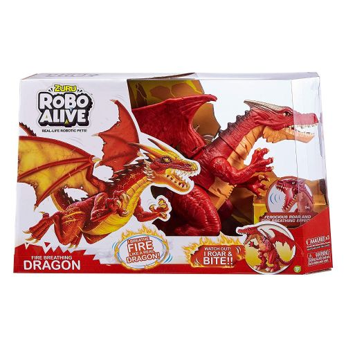 Zuru Robo Alive Fire Breathing Battery-Powered Roaring Red Dragon